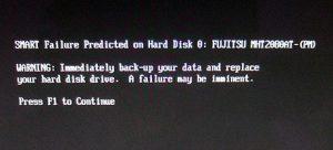 hard drive error